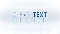 Clean Texts Opener - Apple Motion and Final Cut Pro X Template Apple Motion 模板