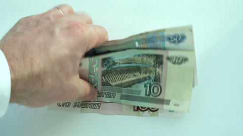 Currency Exchange: Dollar To Rubles stock footage
