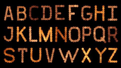 Lightbulb Alphabet. Flickering Footage