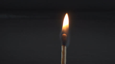 Hand With A Safety Match Lighting It Up And Let It Footage