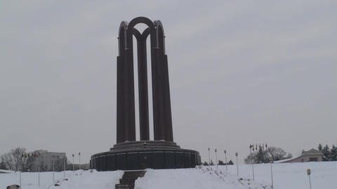 Monument Of Unknown Hero In Bucharest Still-Shot Live Action