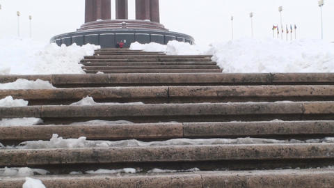 Monument Of Unknown Hero In Bucharest Tilt-Shot Live Action