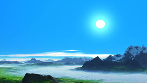 Clear day in the mountains Animation