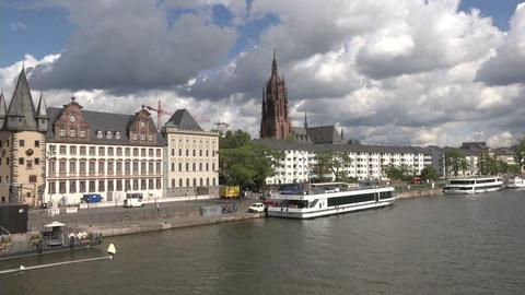 Buildings in Frankfurt Footage