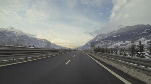 Highway In Italy stock footage