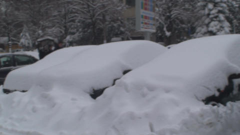 Cars Buried Under Snow 2 Footage