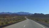 POV Driving Mojave Desert Hwy 40 Near Needles CA stock footage