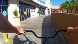 POV Riding Bike At New Long Beach Pike stock footage