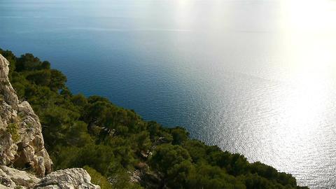 Mediterranean coastline view Footage