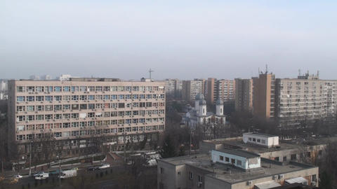 Communist Era Apartment Buildings Aerial Still-Sho Live Action