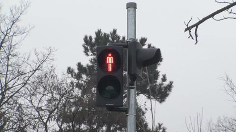 Traffic Lights Red For Pedestrians Still-Shot Footage