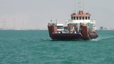 Cargo Ferry On Persian Gulf, Iran stock footage
