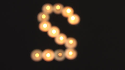 S Made Of Candles Unfocused Shot stock footage