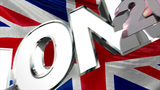 London 2014 On Background Of Flag United Kingdom stock footage