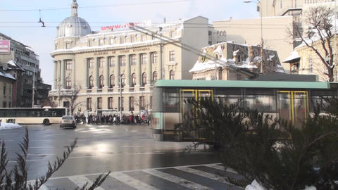 Academy Of Economic Study In Bucharest And Traffic Footage