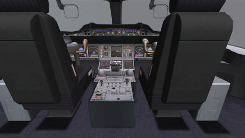 Aircraft Cockpit,high-tech Dashboard,Pilots Operat stock footage