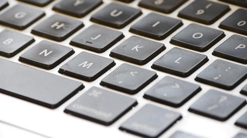 Close Up Of Computer Keyboard stock footage