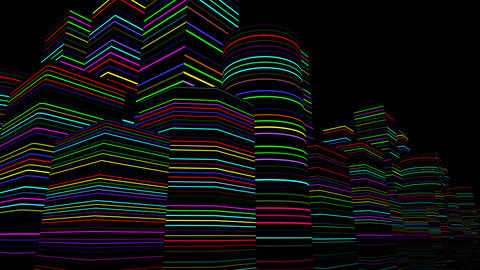 Neon Light City F 3 B 1 4k Animation
