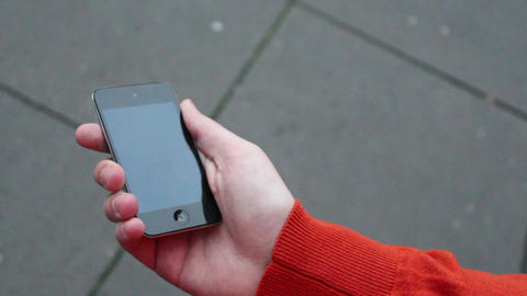 looking at iPod Touch 2 Stock Video Footage