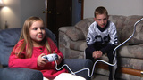 Kids Play Video Games Footage