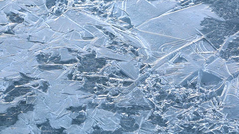 Figures On The Ice Cover Of A Lake stock footage