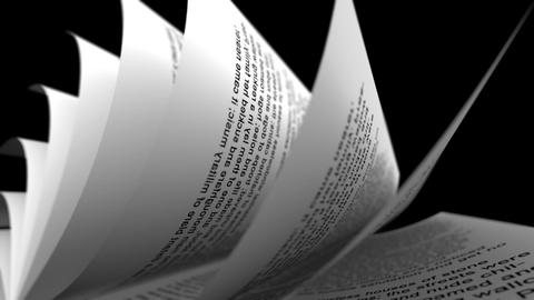 Close-up Of Rolled Paper Sheets On Black Backgroun stock footage