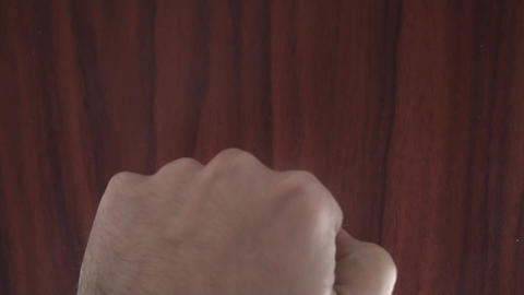 Hand Knocking On The Door Point Of View-Shot stock footage
