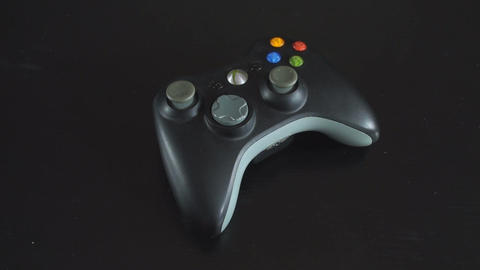 Blinking Light On A Game Controller Above-Shot Footage