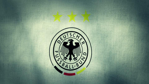 Germany National Football Team Flag Textured stock footage