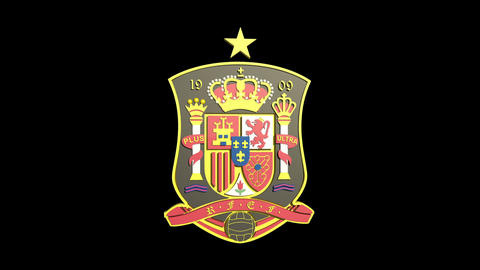 3D Spain National Football Team Badge Rotating stock footage