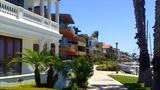 Row Of Beach Houses Naples Island Long Beach CA stock footage