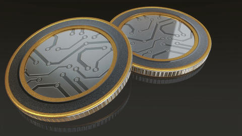 digital coins pan Animation
