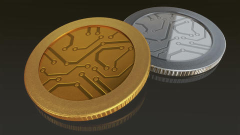 Digital Currency Coins Dark Merge 1
