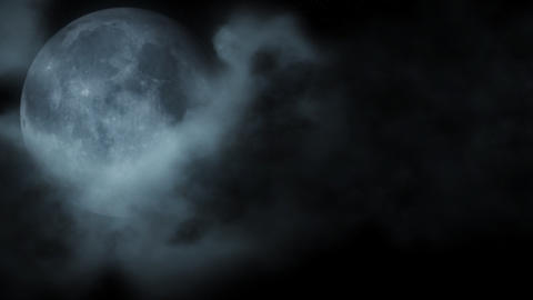 Dark moon & cloud CG動画