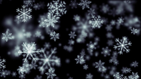 Snow crystal white CG動画