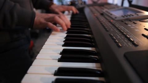 Playing Keyboards A stock footage
