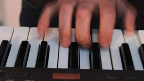 Playing Keyboards C stock footage