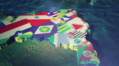 Brazil States World Cup Games (NO State Text) CG動画素材