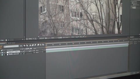 Video Editing Software Cutting Footage From The Ti stock footage