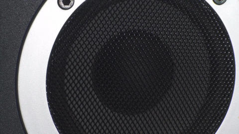 Bass Test Close Up Of A Studio Speaker Live Action