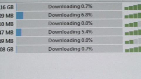 Torrents Downloading 2 stock footage