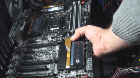 Seating The Motherboard In A PC Case Live Action
