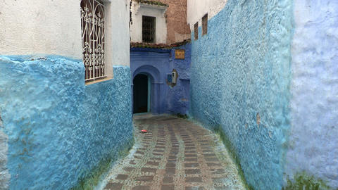 FT 0050 Blue Alley In Chefchaouen 24 P PJ 95 No Au Footage