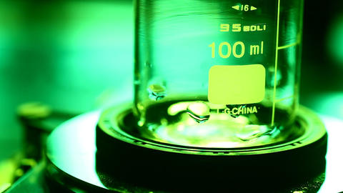 Lab Test Beaker stock footage