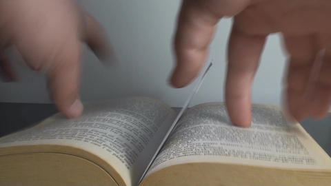 Man Removing A Book Sign Point Of View Footage