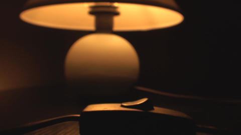 Lamp Turning On In The Dark, Light, Bulb, Energy,  stock footage