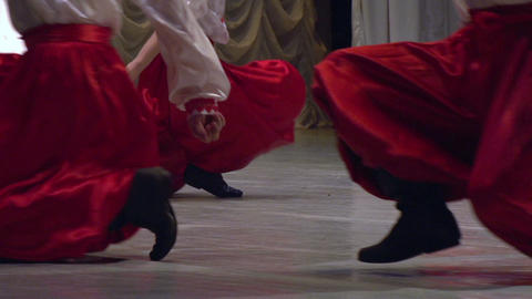 Ukrainian Folk Dance stock footage
