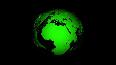 Green Earth With Connections stock footage
