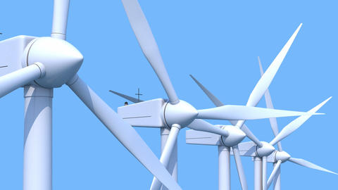 Wind Generators stock footage