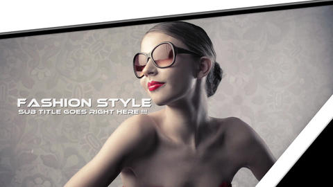 Clean Slideshow Apple Motion Template